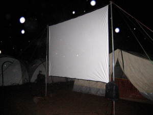 Screen in the rain