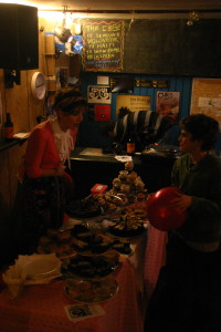 Cake stall at the Cube