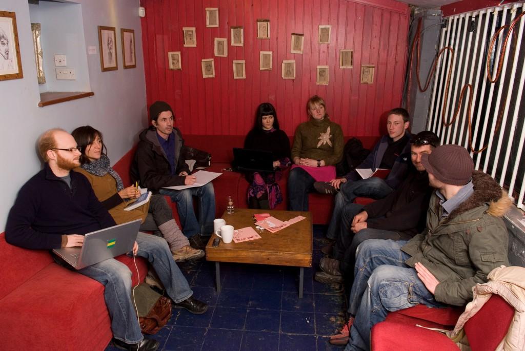 Haiti meeting at the Cube, 2010