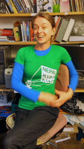 Womens NKKP T-shirt, modelled by Zuleika