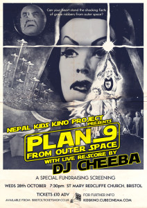 Plan 9 from Outer Space, rescored by DJ Cheeba, in St Mary Redcliffe Church