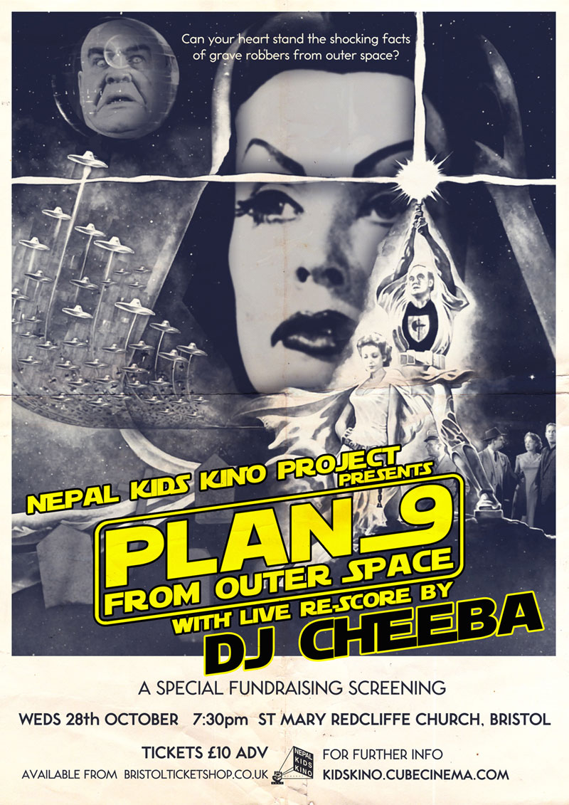 plan 9 from outer space Plan 9 from outer space (originally titled grave robbers from outer space, or simply known as plan 9) is a 1959 american science fiction thriller film written and directed by ed wood and released by distributors corporation of america (as valiant pictures).