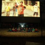 The small kids watching Taare Zameen Par at Khahare - the rest of our audience opted to sit on benches at the back