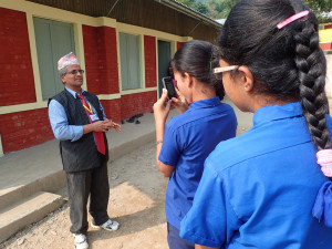 Sukaura students interviewing the most enthusiastic headmaster in the world