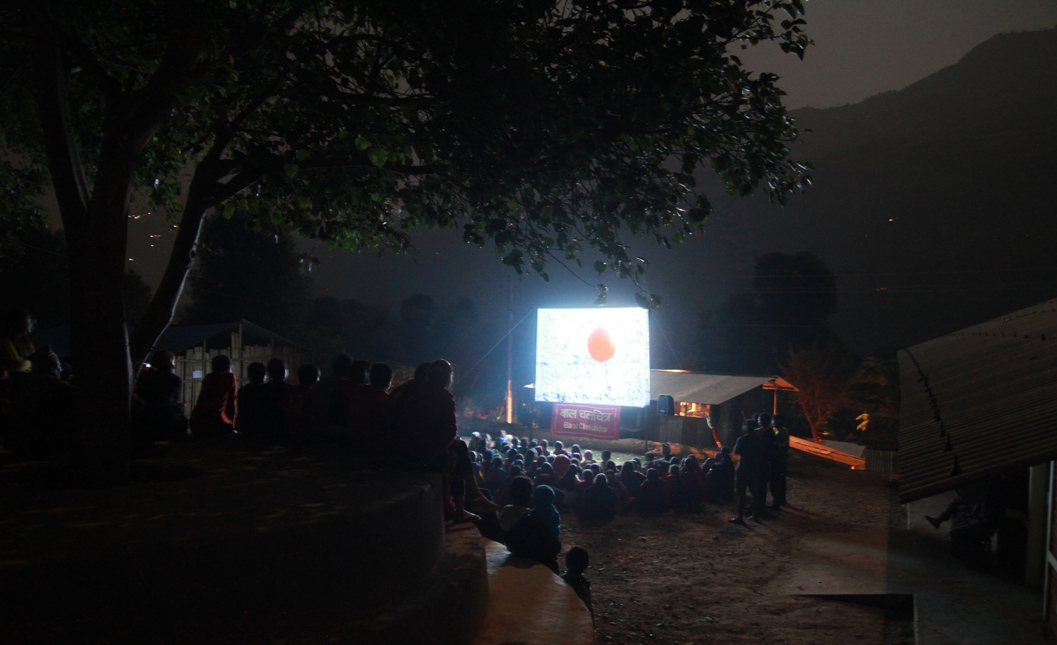 Showing the Red Balloon at our second Sukaura screening