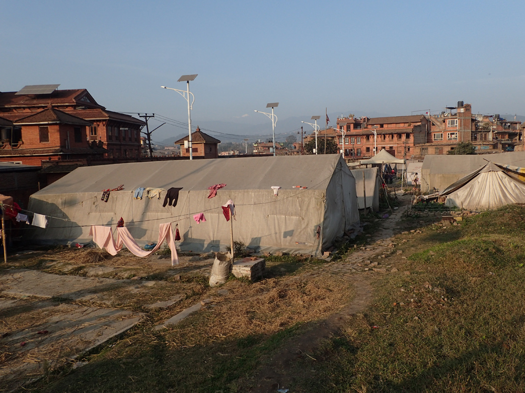 Sano Byasi camp inside the UNESCO World Heritage Site of Bhaktapur